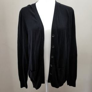 Apt.9 Black Cardigan Long Sleeve with Pockets